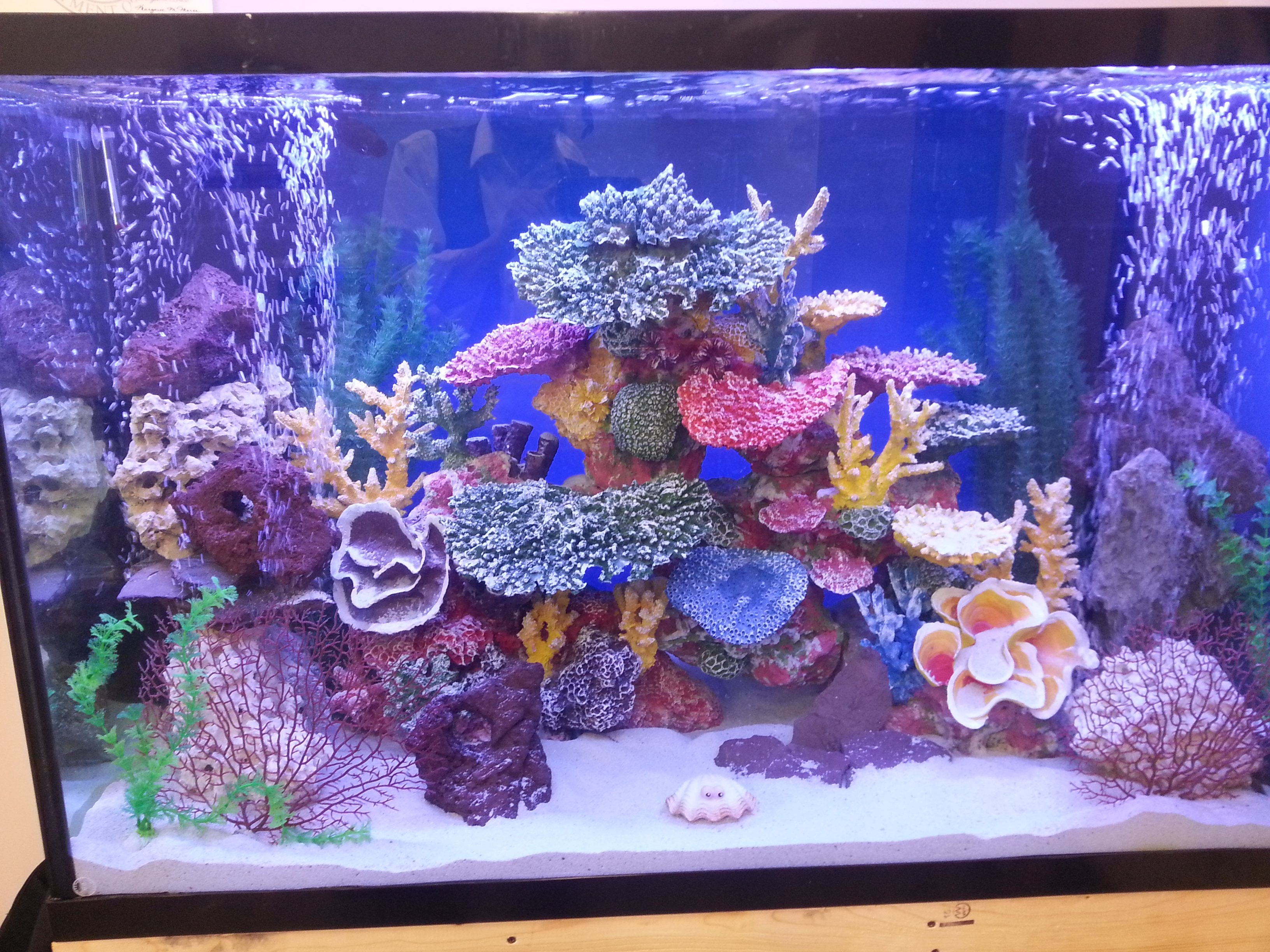 Home kings fish tank for Artificial coral reef aquarium decoration inserts
