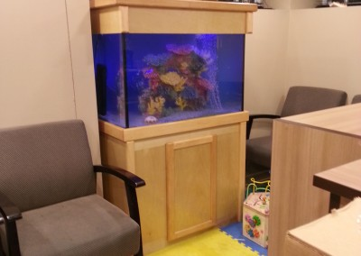 Waiting room fish tank aquarium